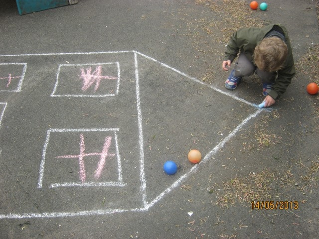 Learning through traditional outdoor games.